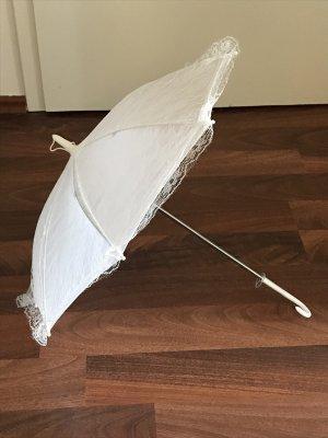 Schirm für Hochzeit Hochzeitsschirm NEU weiß Spitzenschirm