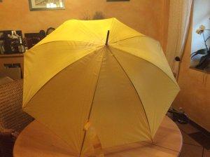 Parapluie long jaune foncé polyester