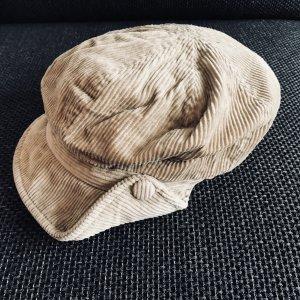 Schirmmütze / Mütze aus Cord, beige, Accessorize
