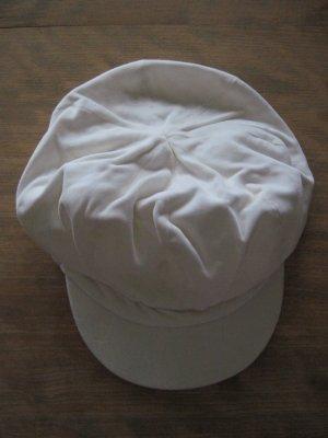 Schirmmütze / Schirmkappe aus Samt, beige, 53 cm