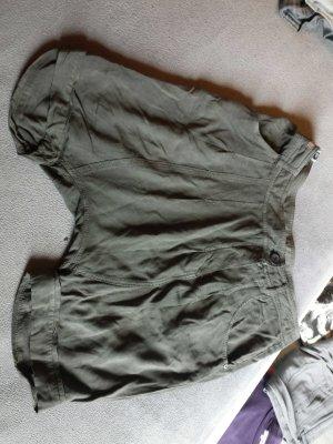 Khujo Korte broek grijs-bruin
