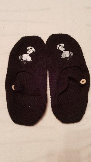 Pantoufles noir coton