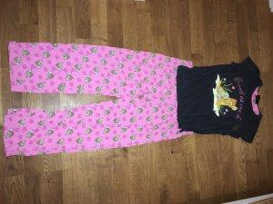 Disney Pyjama donkergrijs-roze