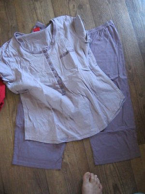 Triumph Pijama blanco-púrpura