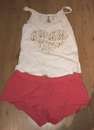 H&M Pyjama roze-wit