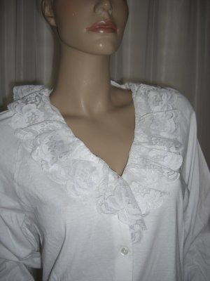 Schlafanzug Oberteil Nachthemd mit viel Spitze  Gr 38   NEU
