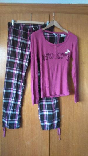H&M Pijama marrón oscuro-rosa Algodón