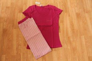 Schlafanzug  Shorty mit langer Hose Gr. 44/46