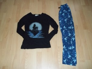 Disney Pijama negro-azul
