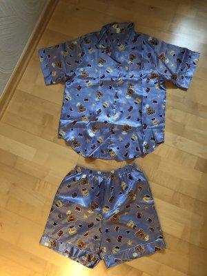 Pyjama azuur-lichtblauw