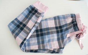 Schlafanzughose kariert aus 100% Baumwolle mit Satinschleife