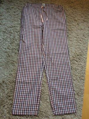 Schiesser Pyjama roze-grijs-paars Katoen