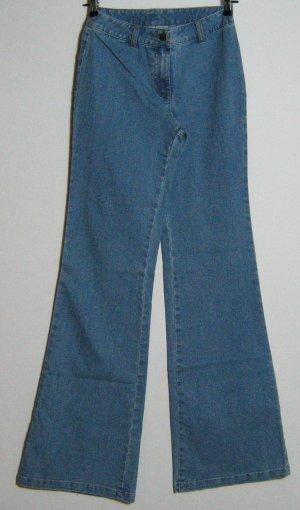 Basic Line Jeans flare bleu tissu mixte