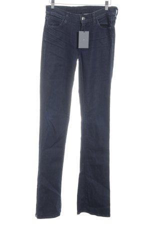 Schlaghose dunkelblau Jeans-Optik