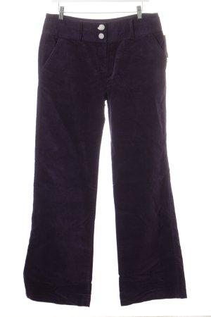 Pantalon pattes d'éléphant violet foncé effet velours