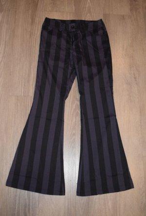Pantalón de campana negro-violeta oscuro