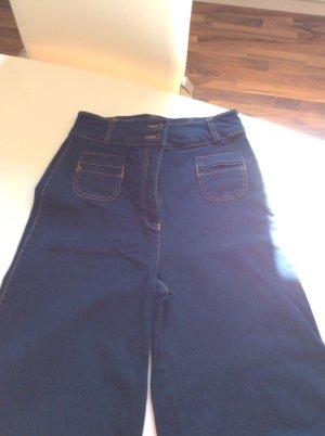 Schlaghose Hose Jeansoptik Stoff Highwaist / Taille Größe 34