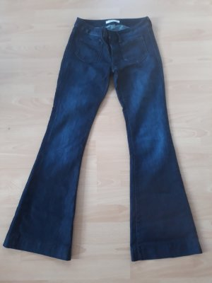 Mavi Jeans Co. Denim Flares dark blue mixture fibre