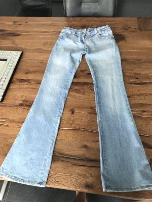 Denny Rose Jeans a zampa d'elefante azzurro-blu