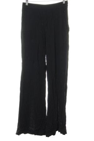 Pantalone a zampa d'elefante nero stile da moda di strada