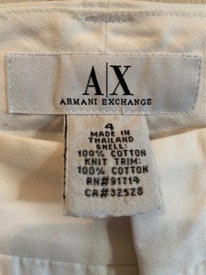 Armani Exchange Pantalón de campana blanco