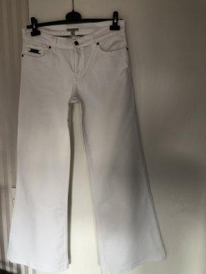 Burberry Pantalón de campana blanco