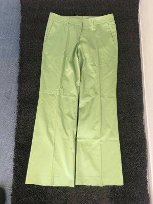 Hugo Boss Pantalón de campana verde claro Algodón