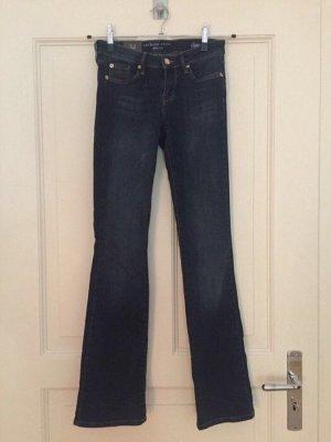 Orsay Jeans a zampa d'elefante blu scuro-blu