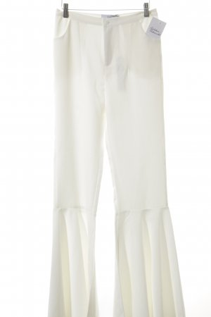Pantalone a zampa d'elefante bianco sporco Stile anni '60