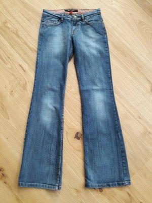 Amisu Jeans a zampa d'elefante blu