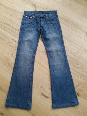 Fishbone Jeans a zampa d'elefante blu