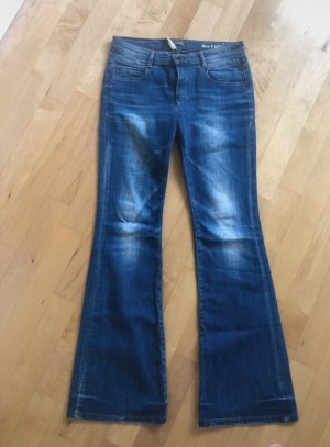 Marc O'Polo Jeans a zampa d'elefante blu-blu scuro