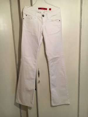 QS by s.Oliver Jeans flare blanc