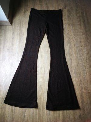 KD 12 Pantalon pattes d'éléphant brun rouge