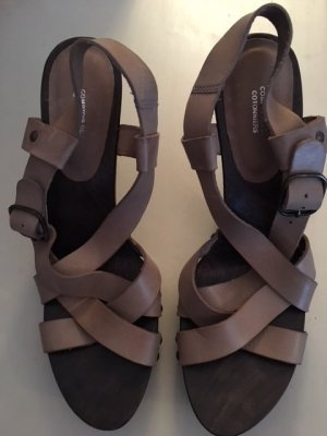 Comptoir des Cotonniers High Heel Sandal grey brown leather