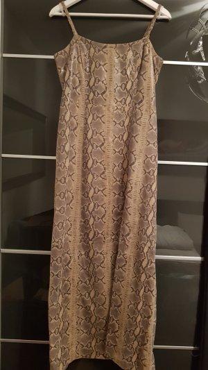 Schlange Leder Kleid