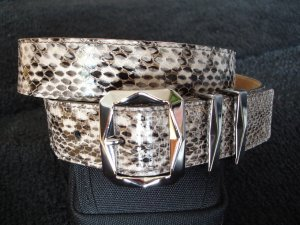 Schlangen Leder Gürtel von Jimmy Choo