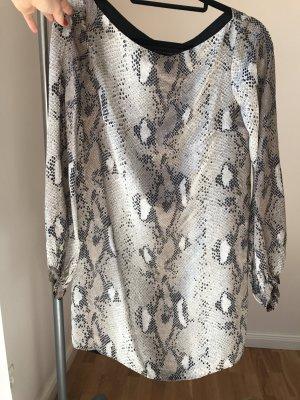 Zara Robe tunique gris clair-crème