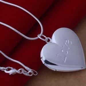 Schlangenkette 925 silber mit Medaillon Amulett zum öffnen Kette