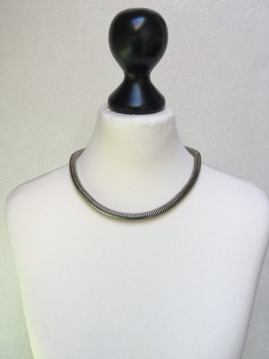 Schlangenkette mit Armband - Silberfarben