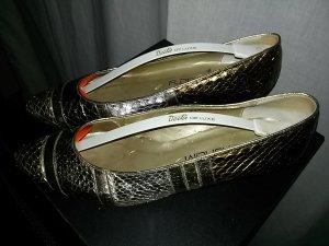 Loafer oro-argento Pelle