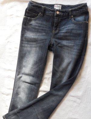 John Baner Vaquero de talle alto azul acero-azul Algodón