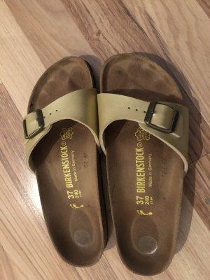 Birkenstock Heel Pantolettes gold-colored