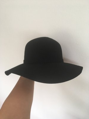 Benetton Cappello in feltro nero Lana
