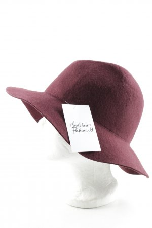 Cappello a falde larghe bordeaux stile casual