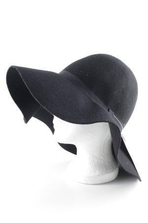 Chapeau à larges bords noir style décontracté