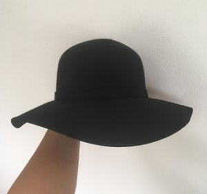 United Colors of Benetton Floppy Hat black wool