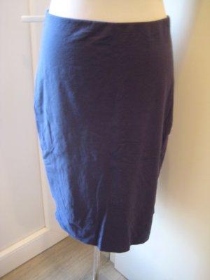 H&M High Waist Skirt steel blue cotton