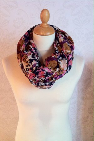Schlauch-Schal mit Blumenmuster