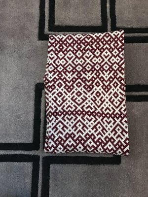 Snood white-red